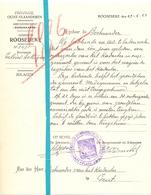 Brief Lettre - Gemeente Roosebeke - Rozebeke - Naar Kadaster 1925 - Non Classés
