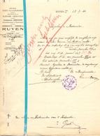Brief Lettre - Gemeente Ruyen Ruien - Naar Kadaster 1924 + Brief Met Antwoord - Non Classés