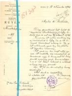 Brief Lettre - Gemeente Ruyen Ruien - Naar Kadaster 1924 - Non Classés