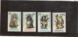 M27 - VANUATU- 705/708 ** MNH De 1985 - Cérémonies Régionales- Dances - - Vanuatu (1980-...)