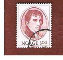 NORVEGIA  (NORWAY)    SG 704 -   1973  J. AALL , HISTORIAN     -   USED ° - Norvegia