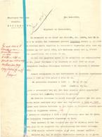 Brief Lettre - Notaris F. De Goey Rupelmonde - Naar Kadaster 1930 - Ivm Blanquaert & Peirsman + Kaart - Non Classés