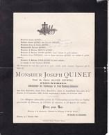 FLEURUS Joseph QUINET Veuf DEWEZ Industriel Administrateur Charbonnages Du Grand-Mambourg-Sablonnière 1901 - Décès