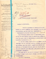Brief Lettre - Steenbakkerij Jos Yseboodt Rupelmonde - Naar Kadaster 1923 - Ivm Steendorp - Non Classés
