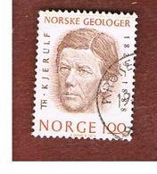 NORVEGIA  (NORWAY)    SG 724  -   1974 T.  KJERULF, GEOLOGIST  -   USED ° - Norvegia