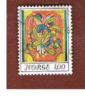 NORVEGIA  (NORWAY)    SG 729  -   1974 FOLK ART: ROSETTE  -   USED ° - Norvegia