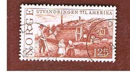 NORVEGIA  (NORWAY)    SG 741  -   1975 FIRST EMIGRATIONS IN AMERICA  -   USED ° - Norvegia
