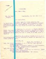 Brief Lettre - Notaris De Goey Rupelmonde - Naar Kadaster 1928 - Ivm Eigendom Van Meervelde - Vercammen - Non Classés