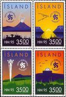 MNH** STAMPS Iceland - World Handball Championship - Iceland  - 1995 - Unused Stamps