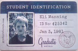 Graduate Hotel Eli Manning - Cartes D'hotel