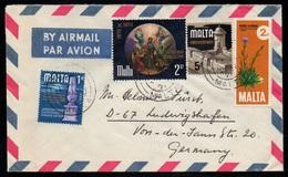 MALTE - MALTA - MDINA / 1971 LETTRE AVION POUR L'ALLEMAGNE (ref LE3105) - Malte