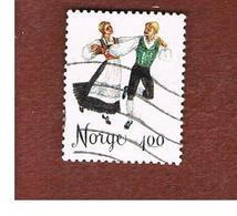 NORVEGIA  (NORWAY)    SG 753  -   1975 FOLK DANCERS: SPRINGAR -   USED ° - Norvegia