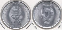 North Korea 5 Won 2005 KM#1015 - Used - Corée Du Nord