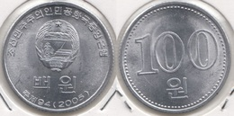 North Korea 100 Won 2005 KM#427 - Used - Corea Del Norte