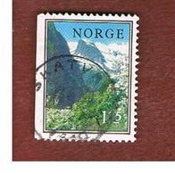 NORVEGIA  (NORWAY)    SG 760  -   1975 LANDSCAPES: SOGNEFJORD -   USED ° - Norvegia