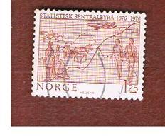 NORVEGIA  (NORWAY)    SG 761  -   1975 BUREAU OF STATISTICS -   USED ° - Norvegia