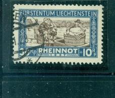 Liechtenstein, Rheinnot, Nr. 81 Gestempelt - Liechtenstein