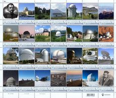 Ukraine 2018, Space, Astronomy, Observatories, Kepler, Struve, Sheetlet Of 28v - Ukraine
