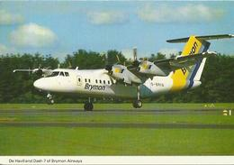 CP AVION DE HAVILLAND DASH 7 OF BRYMON AIRWAYS G-BRYA - 1946-....: Moderne