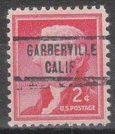 USA Precancel Vorausentwertung Preo, Locals California, Garberville 734 - Préoblitérés