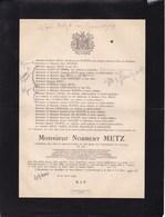 ESCH-sur-ALZETTE LUXEMBOURG Norbert METZ Ingénieur 1885-1929 Aciéries Réunies De BURBACH-EICH-DUDELANGE - Décès