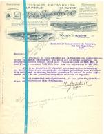 Brief Lettre - Tissage La Perle - Van Grootenbrul  - Renaix Ronse - Naar Kadaster 1932 + Brief Met Antwoord - Non Classés