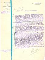 Brief Lettre - Notaire F. Luycx - Renaix Ronse - Naar Kadaster 1932 + Brief Met Antwoord - Non Classés