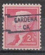 USA Precancel Vorausentwertung Preo, Locals California, Gardena 841 - Préoblitérés