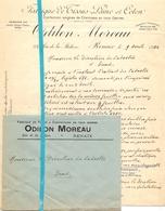 Brief Lettre - Fabrique De Tissus Odilon Moreau - Renaix Ronse - Naar Kadaster 1932 + Brief Met Antwoord - Non Classés