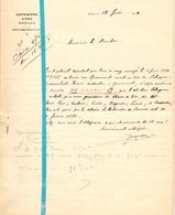 Brief Lettre - Notaire Depratere - Renaix Ronse - Naar Kadaster 1924 + Brief Met Antwoord - Non Classés