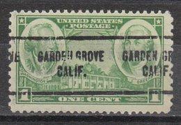 USA Precancel Vorausentwertung Preo, Locals California, Garden Grove 704 - Préoblitérés