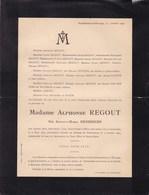 AMSTERDAM Château De NEUFCHATEAU Warsage Augusta HENDRICHS épouse Alphonse REGOUT 1875-1931 Meerssen - Décès
