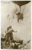 CPA - Carte Postale - Belgique - Couple - Montgolfière - 1913 (SV6916) - Saint-Valentin