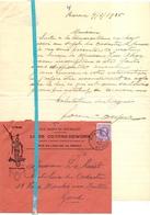 Brief Lettre - Louis Cosyns - Deworm - Renaix Ronse - Naar Kadaster 1925 + Brief Met Antwoord - Non Classés