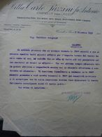 """Lettera Commerciale """"Ditta CARLO PAZZINI Fu ANTONIO Fabbriche Filo Ferro,etc,  CASTELLO DI LECCO"""" 5 Dicembre 1931 - Italia"""