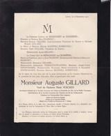 WANZE VALMONT Suisse Auguste GILLARD Zinc De La Vieille Montagne Président Automobile Club Liégeois 1855-1921 Vercken - Décès