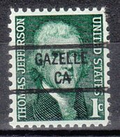 USA Precancel Vorausentwertung Preo, Locals California, Gazelle 841 - Préoblitérés