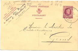 Brief Lettre - Briefkaart Oscar De Pourcq  - Renaix Ronse - Naar Kadaster 1925 + Brief Met Antwoord - Non Classés