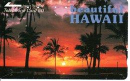 Beautiful HAWAII Coucher De Soleil  Télécarte Japon  Phonecard  (G 64) - Paysages