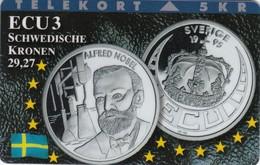 Denmark, TP 100A, ECU-Schweden, Mint, Only 1500 Issued, Coins, Flag, Nobel, 2 Scans. - Denmark