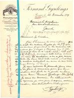 Brief Lettre - Casquettes Bérets Fernand Gyselings - Renaix Ronse - Naar Kadaster 1929 - Brief Met Antwoord - Non Classés