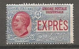 EXP  Yv. N° 2   SASS  N° 2 *  25c  Cote 1euro BE  2 Scans - 1900-44 Vittorio Emanuele III