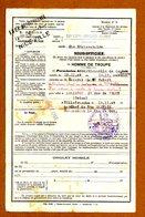 PERMISSION INFANTERIE ALPINE 1940 Tampons Militaire Et SNCF - Documenti
