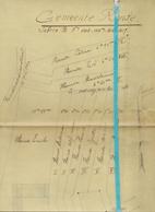 Brief Lettre - De Pratere - Renaix Ronse - Naar Kadaster 1930 + Kaart - Non Classés