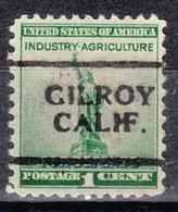 USA Precancel Vorausentwertung Preo, Locals California, Gilroy 701 - Préoblitérés