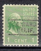 USA Precancel Vorausentwertung Preo, Locals California, Girard 729 - Préoblitérés