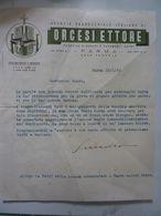 """Lettera Commerciale """"AGENZIA PARROCCHIALE ITALIANA DI ORCESI ETTORE PARMA"""" 19 Febbraio 1943 - Italia"""