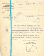 Brief Lettre - Gemeente  Renaix Ronse - Naar Kadaster 1930  + Brief Met Antwoord - Non Classés