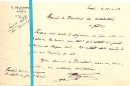 Brief Lettre - Notaire Delouvroy  Renaix Ronse - Naar Kadaster 1923  + Brief Met Antwoord - Non Classés