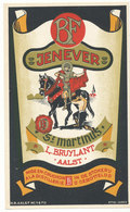 Aalst - Jenever - Likeurstokerij Sint Martinus L.Bruylant  Aalst - 16 Cm X 9 Cm - Etiquettes